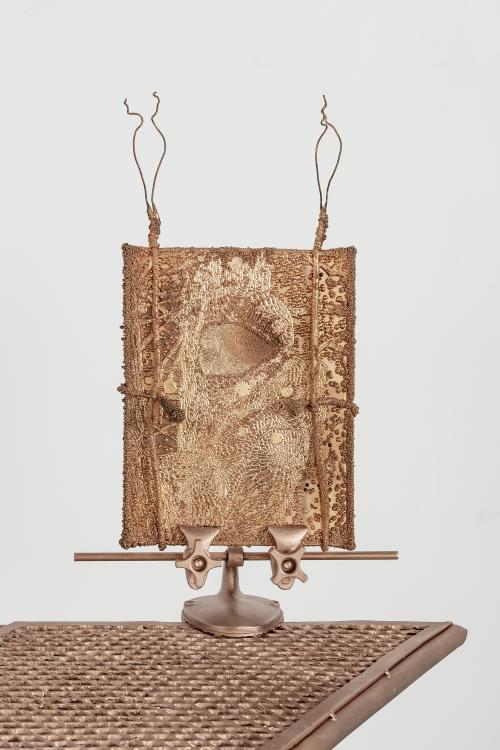 Electroplated copper plate with cast copper stand55 × 45 × 45 inLaurenz Foundation, Basel