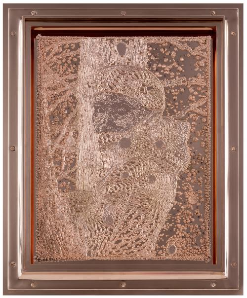 Electroplated copper plate in copper frame14 × 11 × 1¾ inLaurenz Foundation, Basel