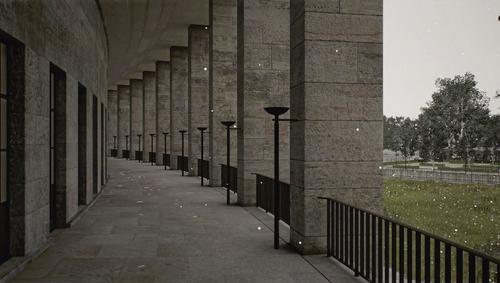 Zweikanal-Echtzeitprojektion, Farbe, ohne Ton, HD-Animation, 1000 JahreMit Unterstützung durch den VAF Vlaams Audiovisueel FondsCourtesy Esther Schipper, Berlin, Sean Kelly, New York © 2017 ProLitteris, Zurich