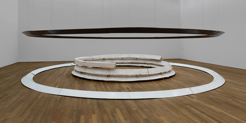 Bruce Nauman: Disappearing Acts, 17 March to 26 August 2018, Schaulager® Münchenstein/Basel, installation view with Bruce Nauman, Model for Trench and Four Buried Passages, 1977, Plaster, fiberglass, and wire, Glenstone Museum, Potomac, Maryland, © Bruce Nauman / 2018, ProLitteris, Zurich, photo: Tom Bisig, Basel