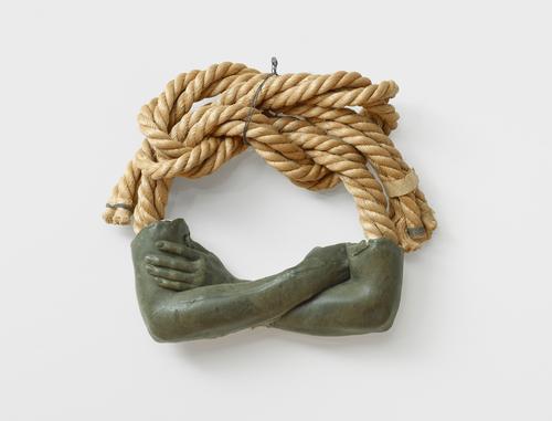 Wax over plaster with rope, 17 × 26 × 4 1/2 in. (43 × 66 × 11.5 cm), Daros Collection, Switzerland, © Bruce Nauman / 2018, ProLitteris, Zurich